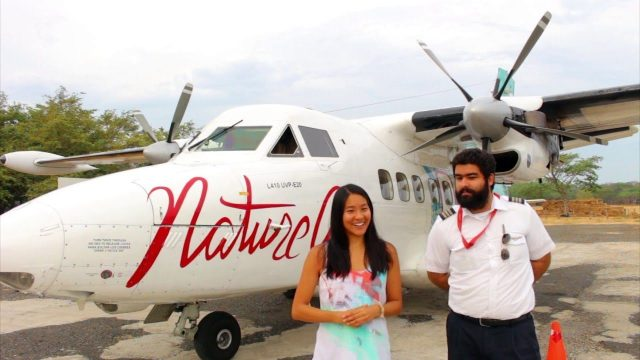 Nature Air's passenger and pilot.