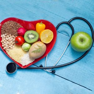 Fiber-rich food is benefitial for heart health.