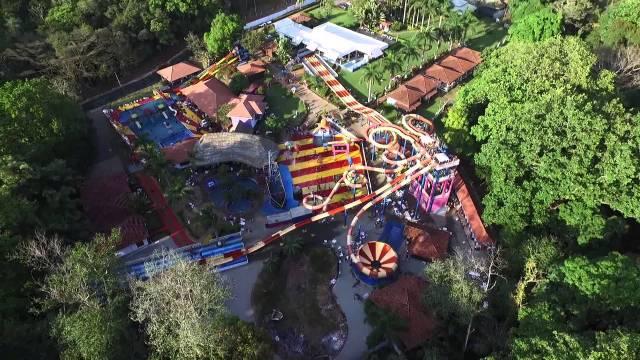 Aerial View of Villas Fantasía Waterpark