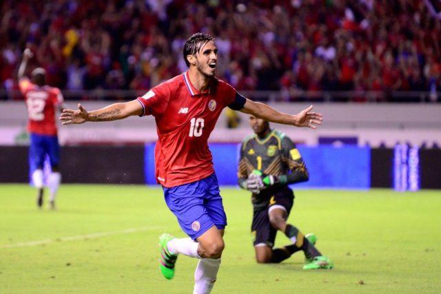 Brian Ruiz celebrating one of his goals