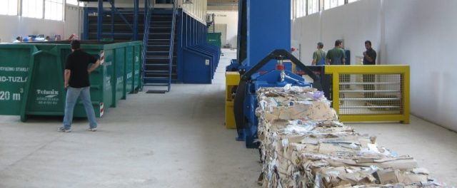 Municipal solid waste (MSW) work area