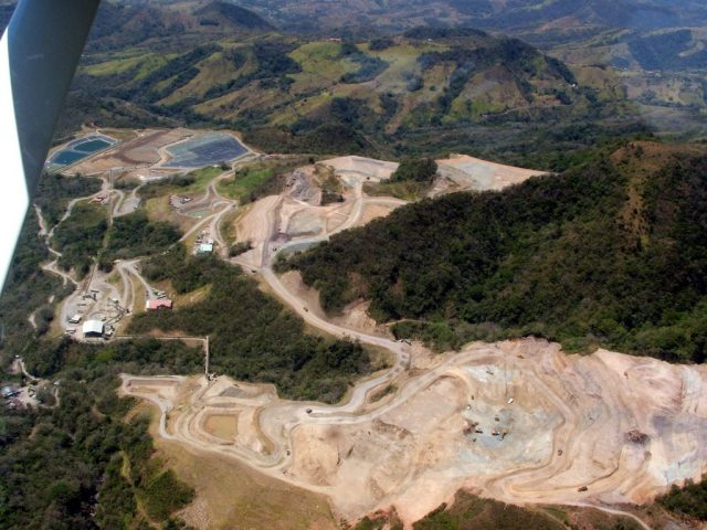 Open-pit mining area in Costa Rica