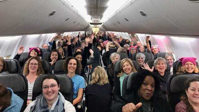 Spirit Airlines happy passengers