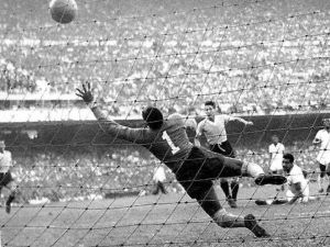 "Uruguay's unexpected goal against Brazil in the ever-sadful ""Maracanazo"" (1950)"