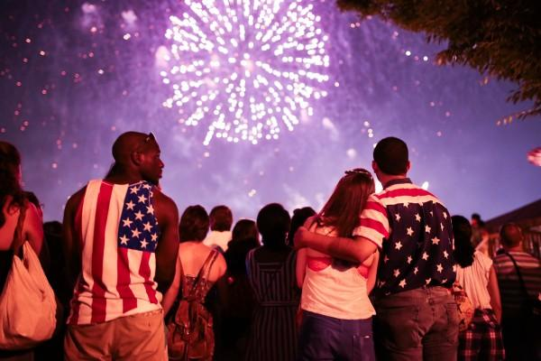 American citizens celebrating July 4th outside the USA