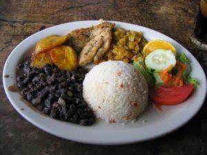 Casado, a traditional Costa Rican dish