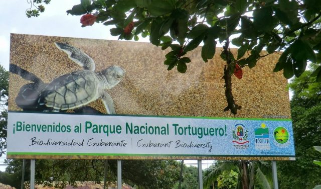 Welcoming ad of Tortuguero National Park