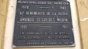 Homage of the City of Heredia to Cespedes