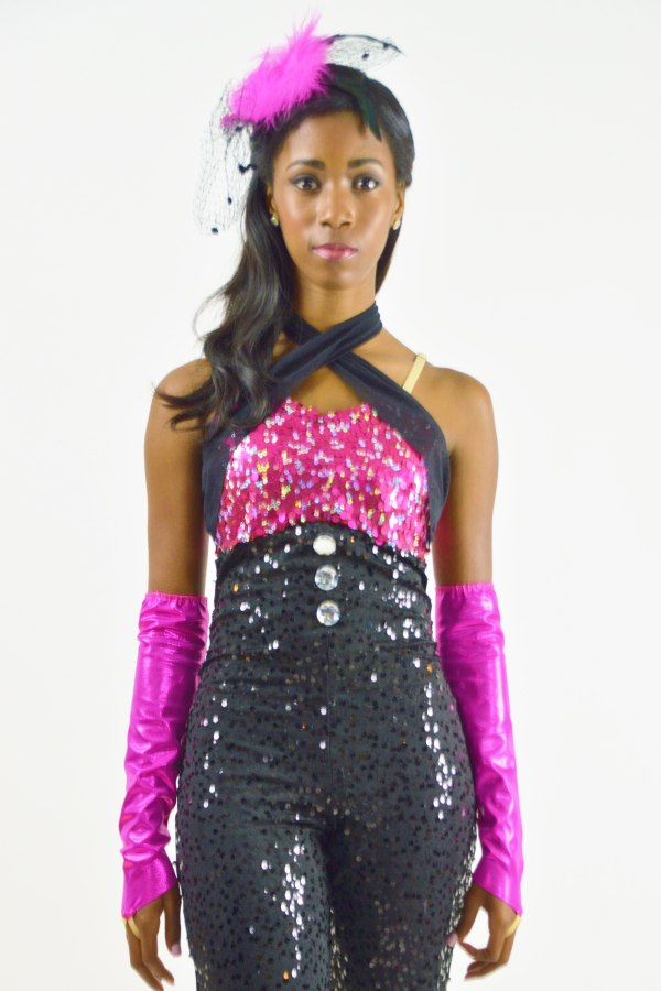 Pink Sequin Unitard