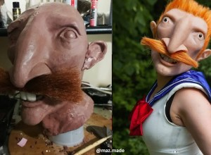 Cosplayer Creates Horrifyingly Good Nigel Thornberry Sailor Moon Mask