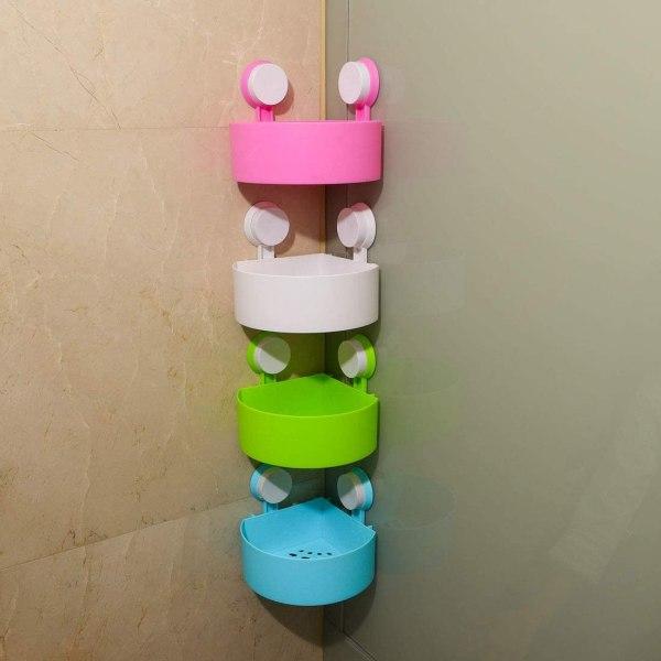 4 Pcs Bathroom Organizer Triangular Shelves