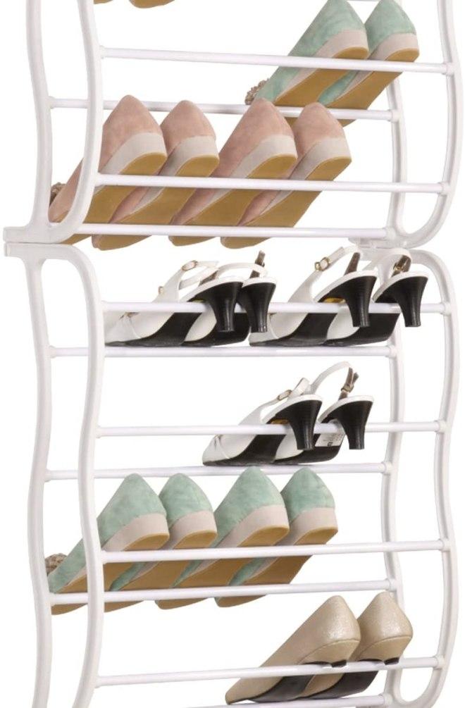 OVER THE DOOR SHOE-RACK; 36 pairs