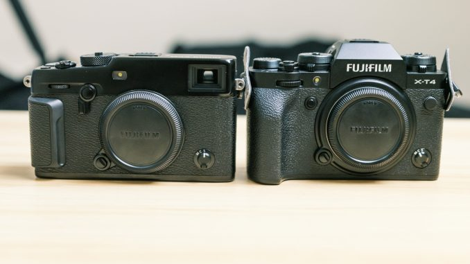 Fuji Xt4 vs X Pro 3 comparison image