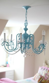 Girls Chandelier Makeover - The Cottage Mama