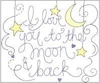 Love You to the Moon and Back Embroidered Pillow Tutorial ...