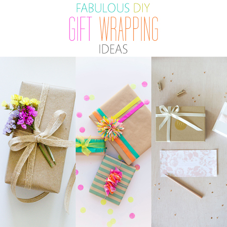 fabulous diy gift wrapping