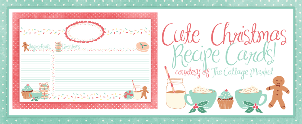 Cute Holiday Recipe Card Printable FOR YOU Plus Some Sweet