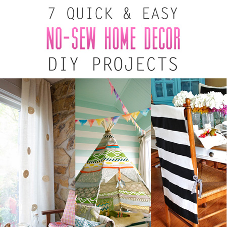 7 Quick And Easy No Sew Home Decor DIY Projects The Cottage Market