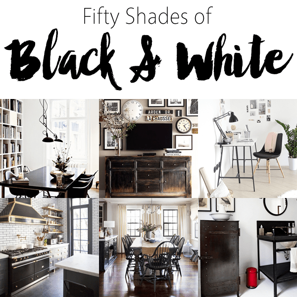decorating with black and white