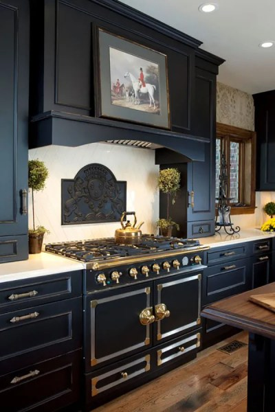 beautiful black kitchen cabinets 15 Beautiful Black Kitchens /// The Hot New Kitchen Color
