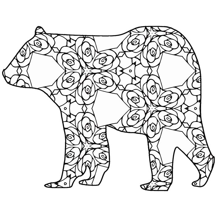 30 Free Coloring Pages /// A Geometric Animal Coloring