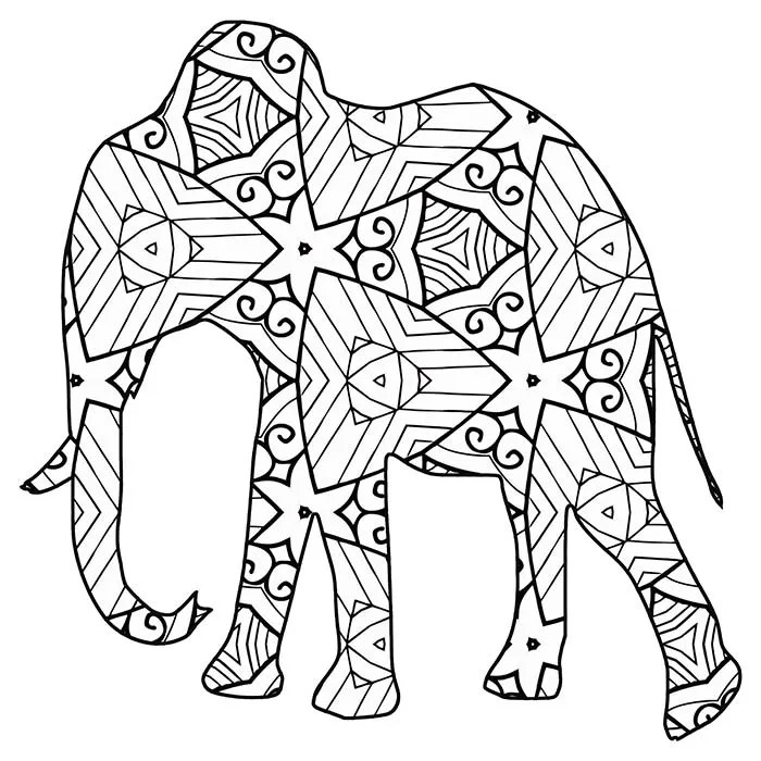 30 Free Coloring Pages /// A Geometric Animal Coloring ... | free printable colouring sheets animals