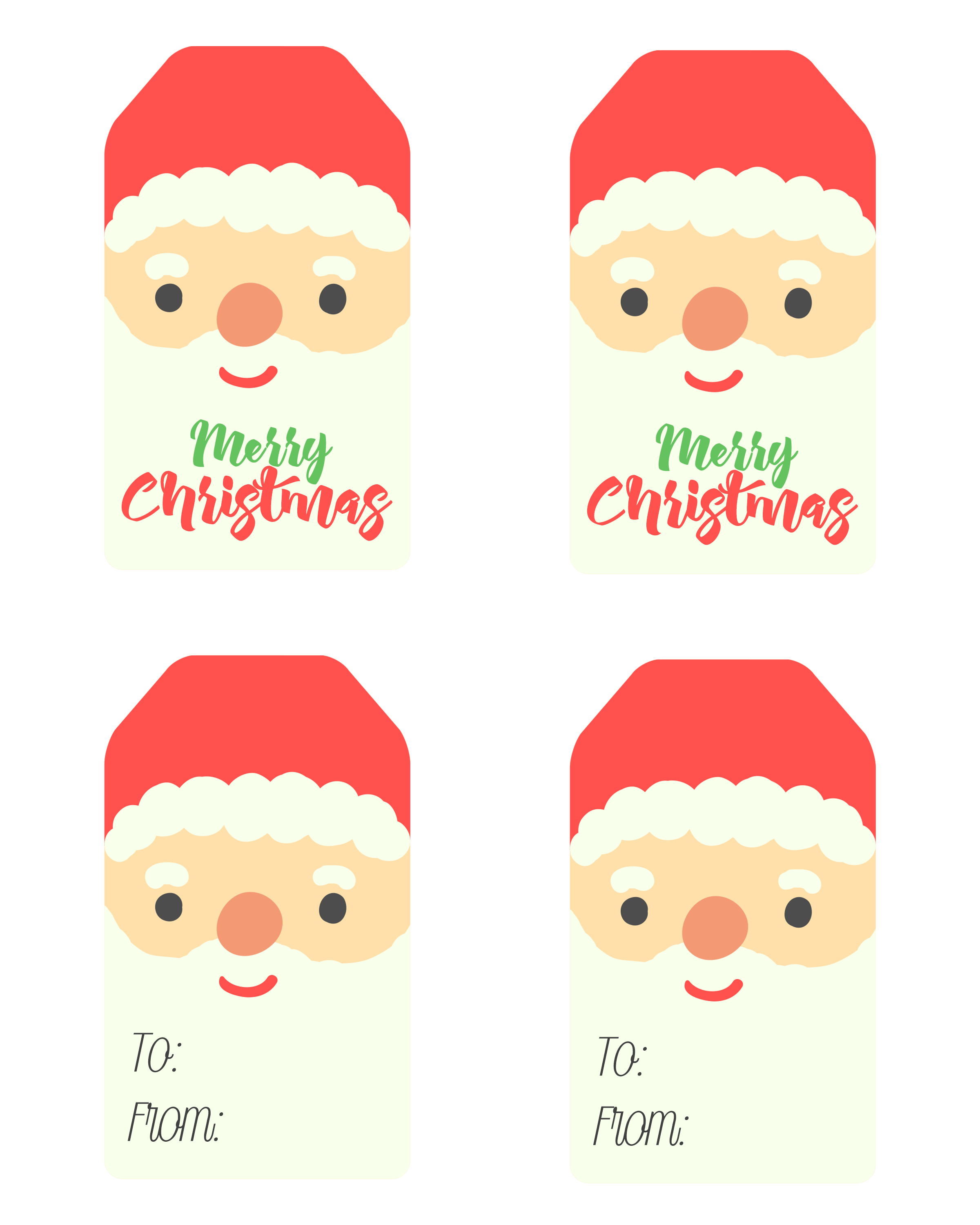 Free Printable Santa Claus Tags