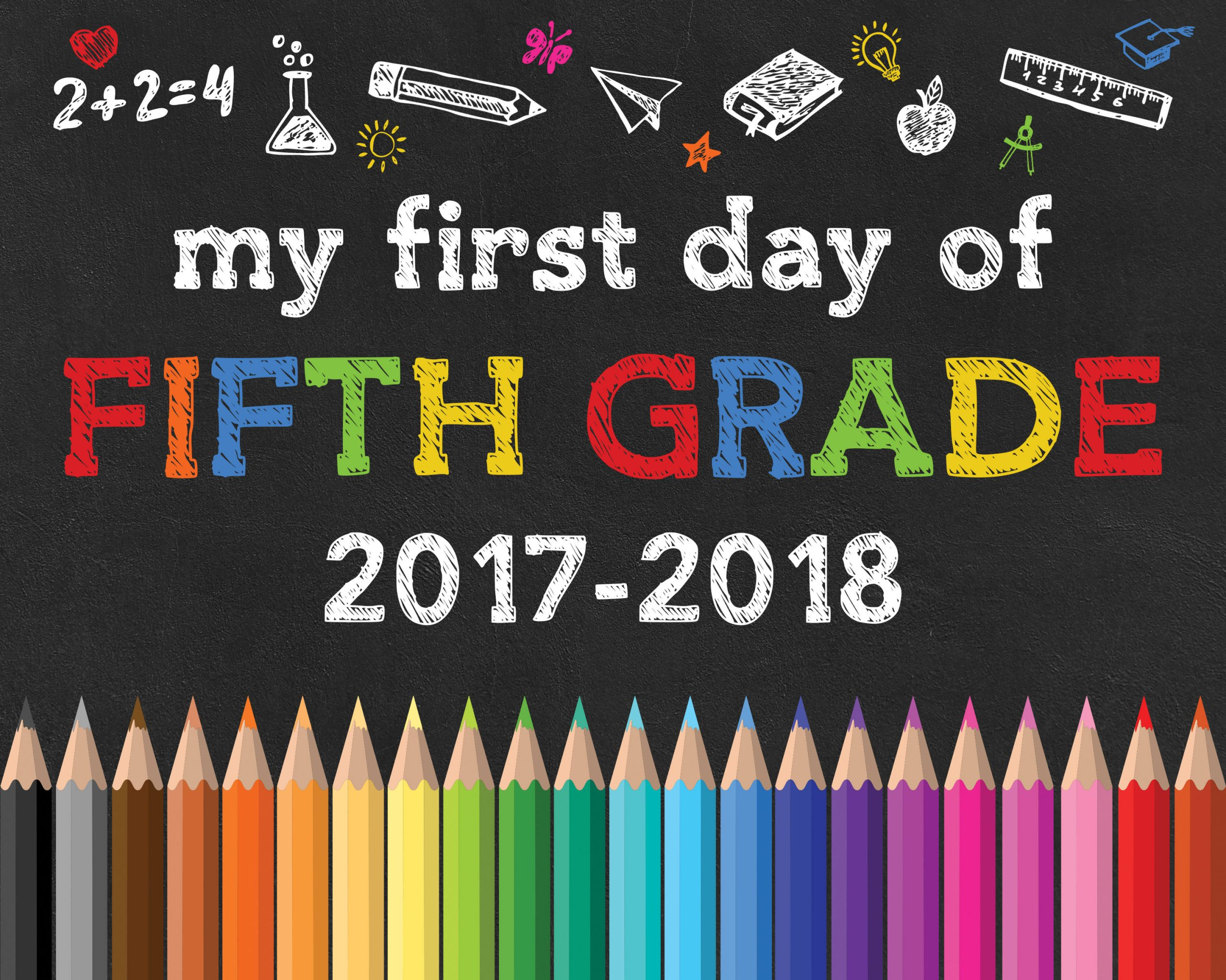 Back To School Free Printable Chalkboard Signs