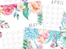 Free Printable 2018 Floral Calendar - Fixer Upper Gazette