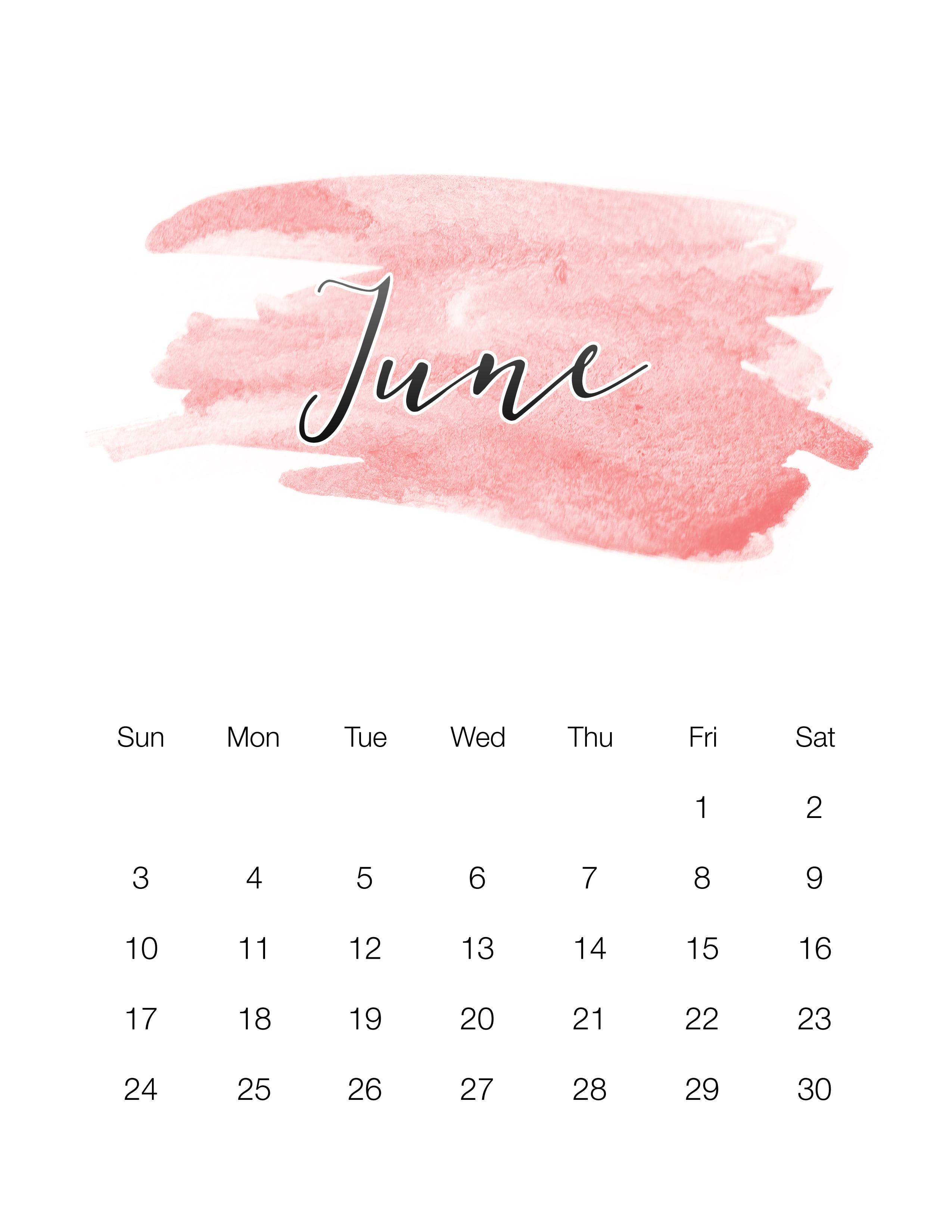 summer calendar template 2015