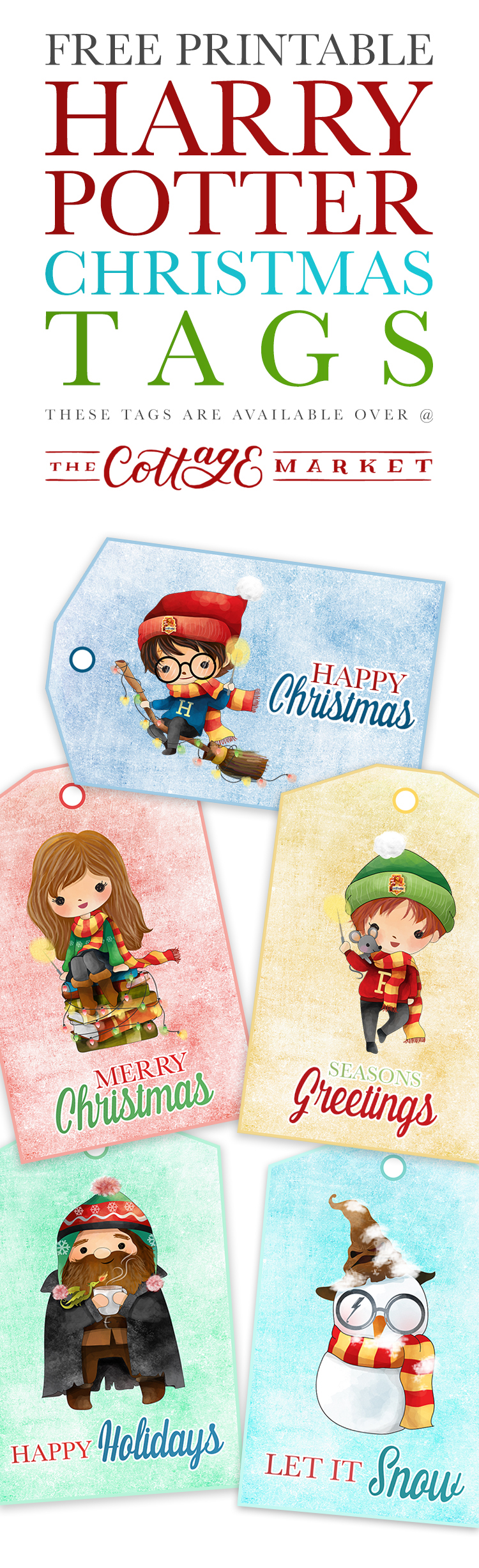 Free Printable Harry Potter Christmas Tags The Cottage