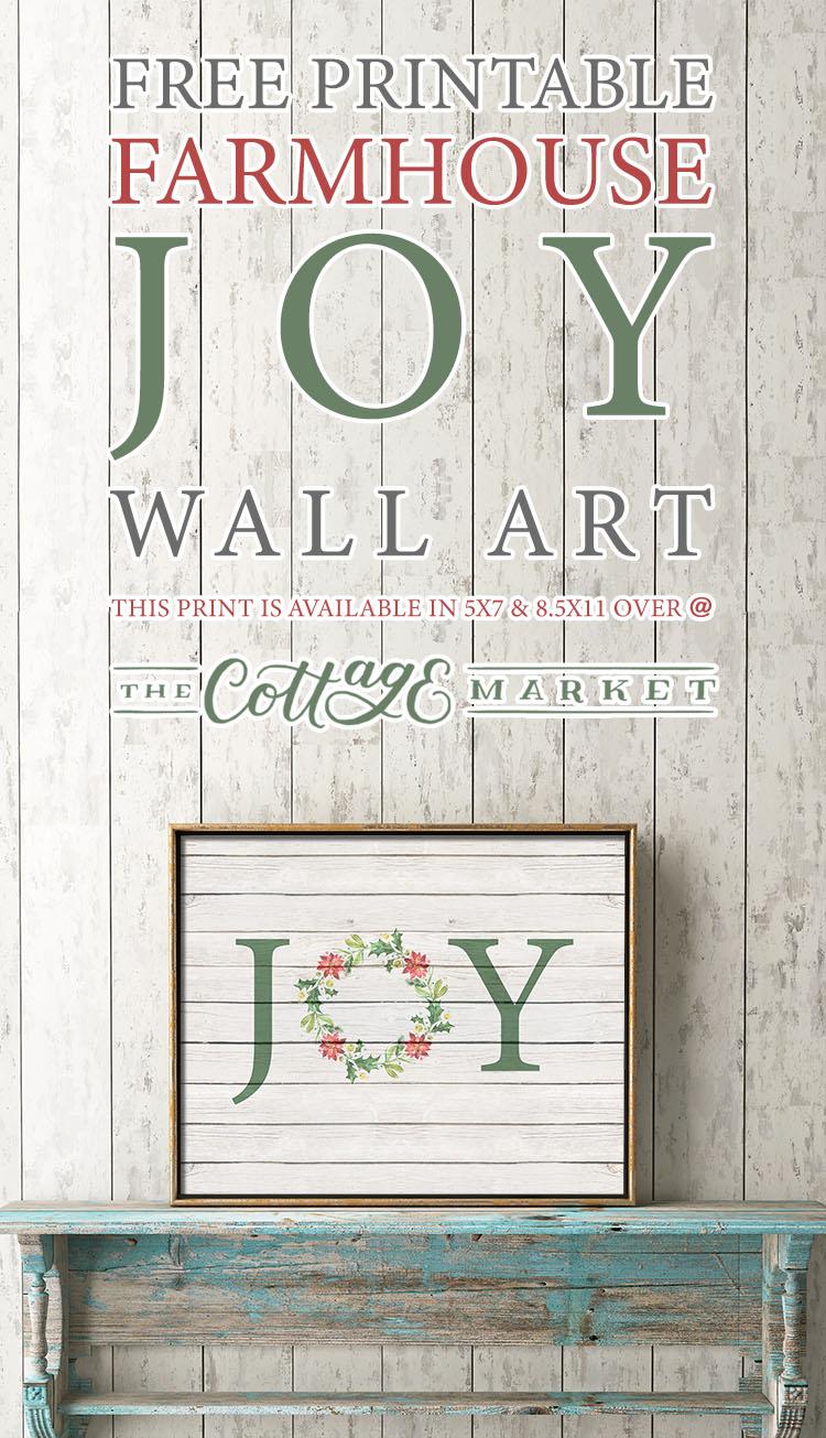 Free Printable Farmhouse Joy Wall Art The Cottage Market