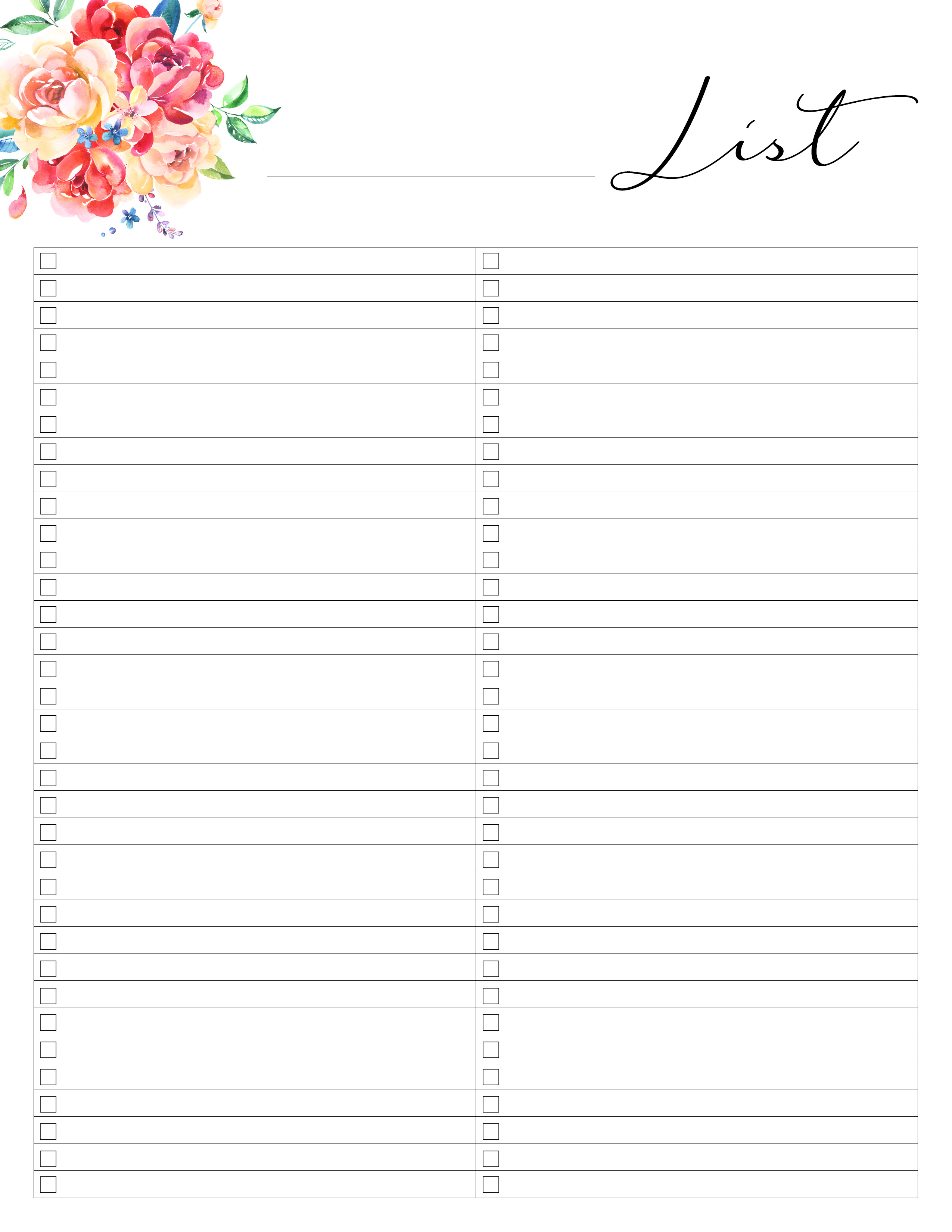 Free Printable Planner 50 Plus Printable Pages