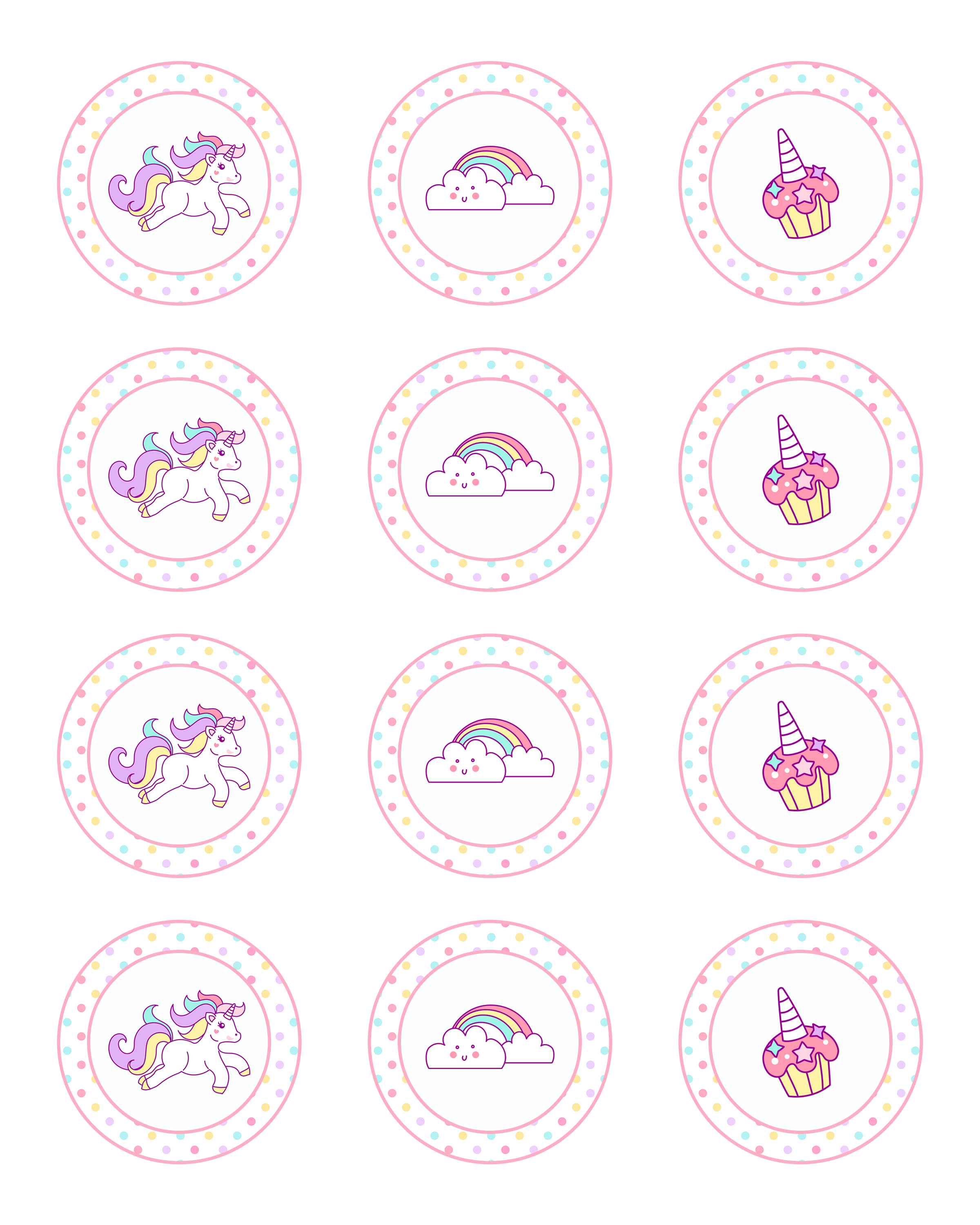 Free Printable Unicorn Party Decorations Pack