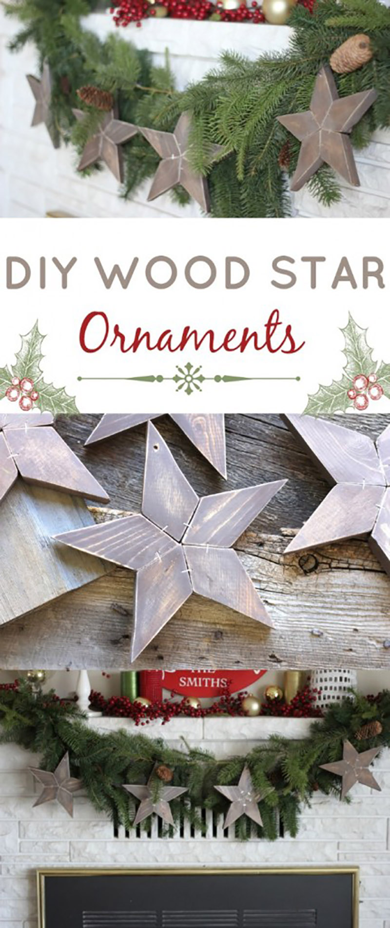 Pottery Barn Inspired Wooden Star Ornaments10
