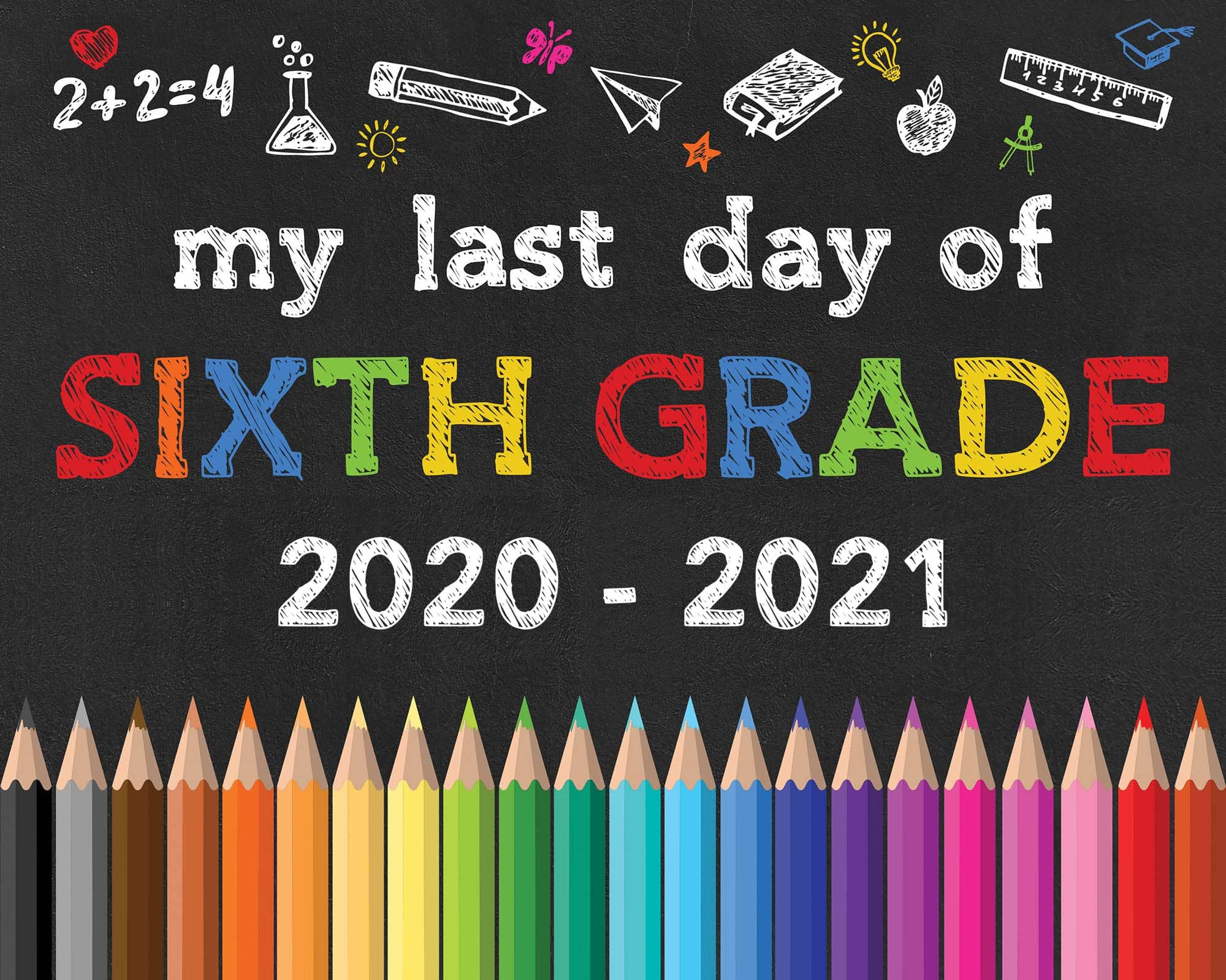 hight resolution of Back to School Free Printable Chalkboard Signs - The Cottage Market