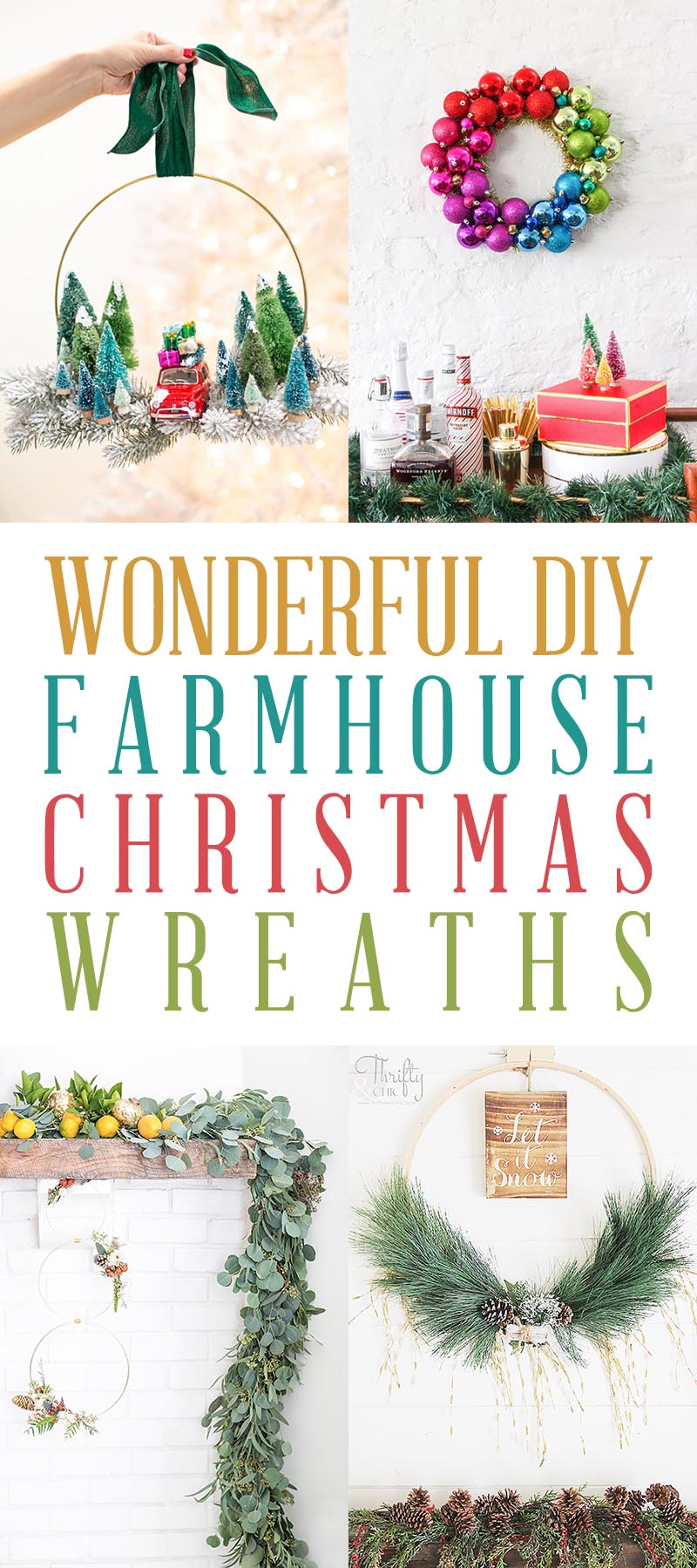 DIY Farmhouse Christmas Wreath T 1