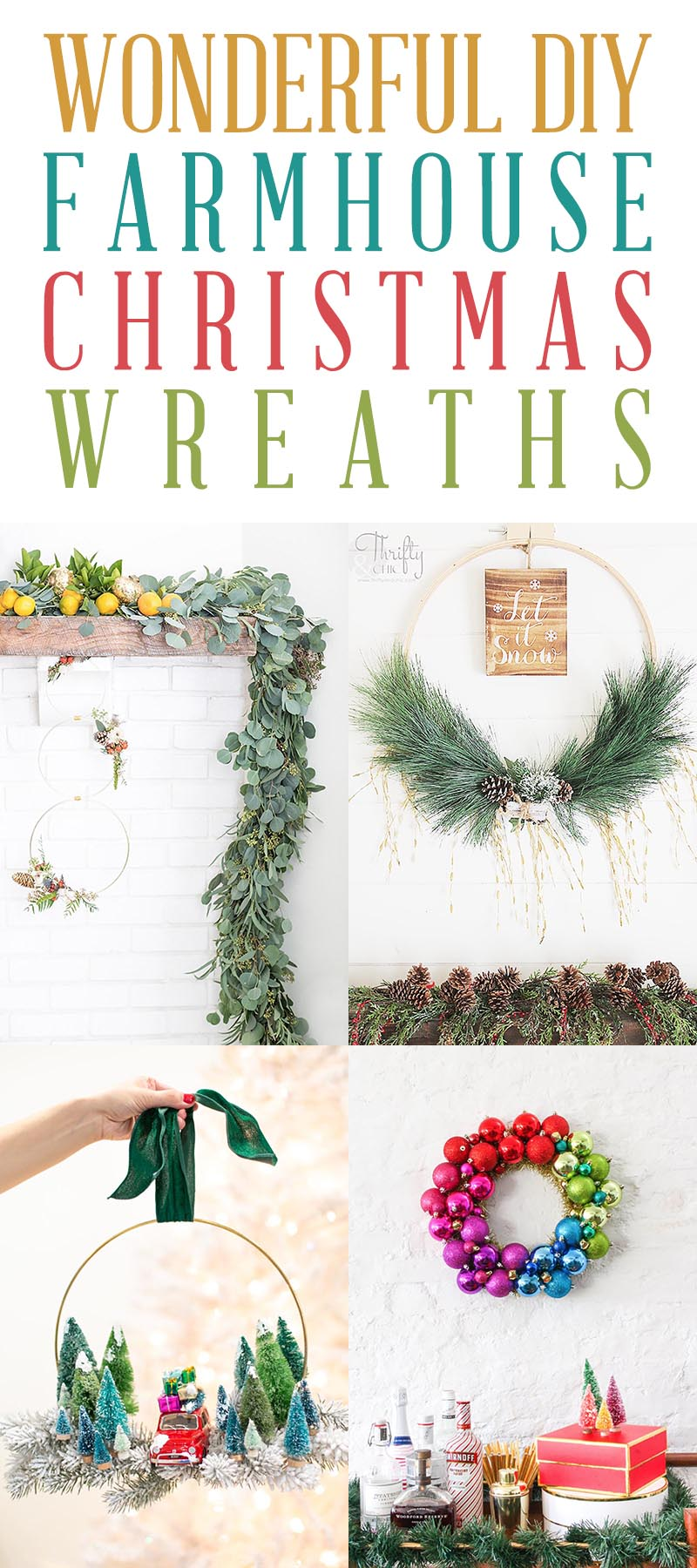 DIY Farmhouse Christmas Wreath T 3