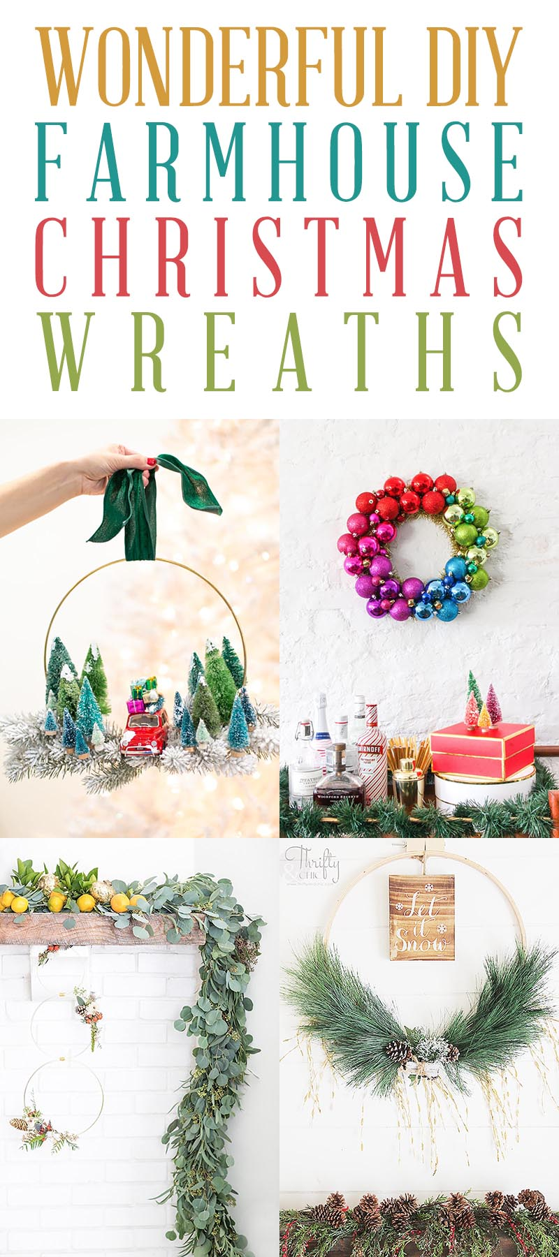 DIY Farmhouse Christmas Wreath T 4
