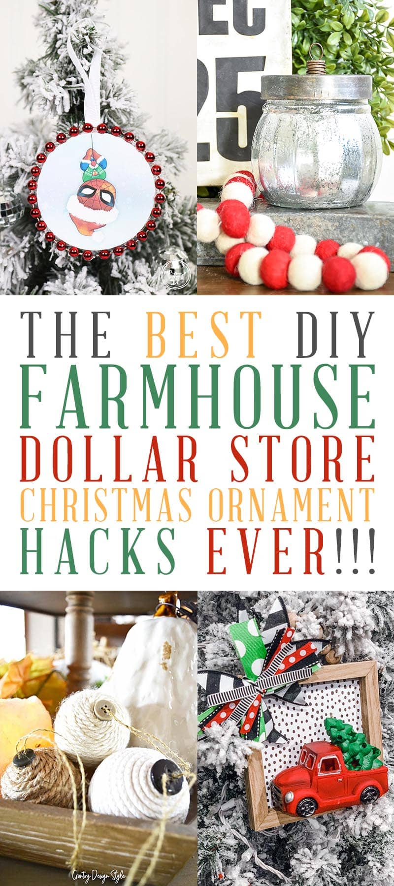 Dollar Store Christmas Ornament DIY T 1