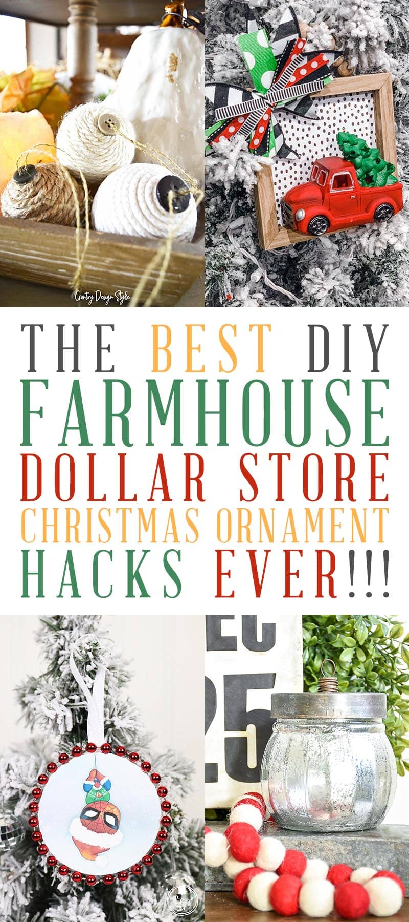 Dollar Store Christmas Ornament DIY T 2