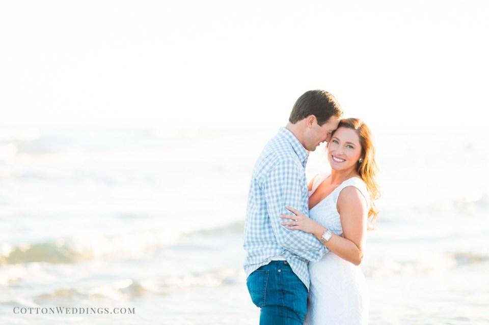 beautiful couple beach engagement