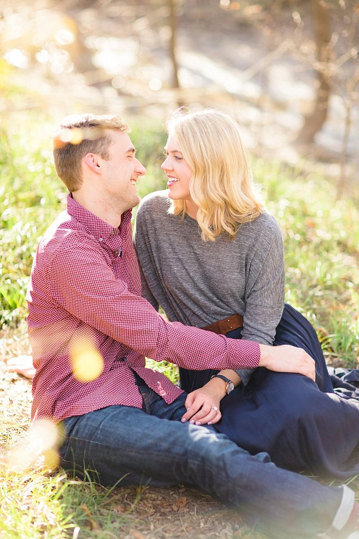happy engagement photo
