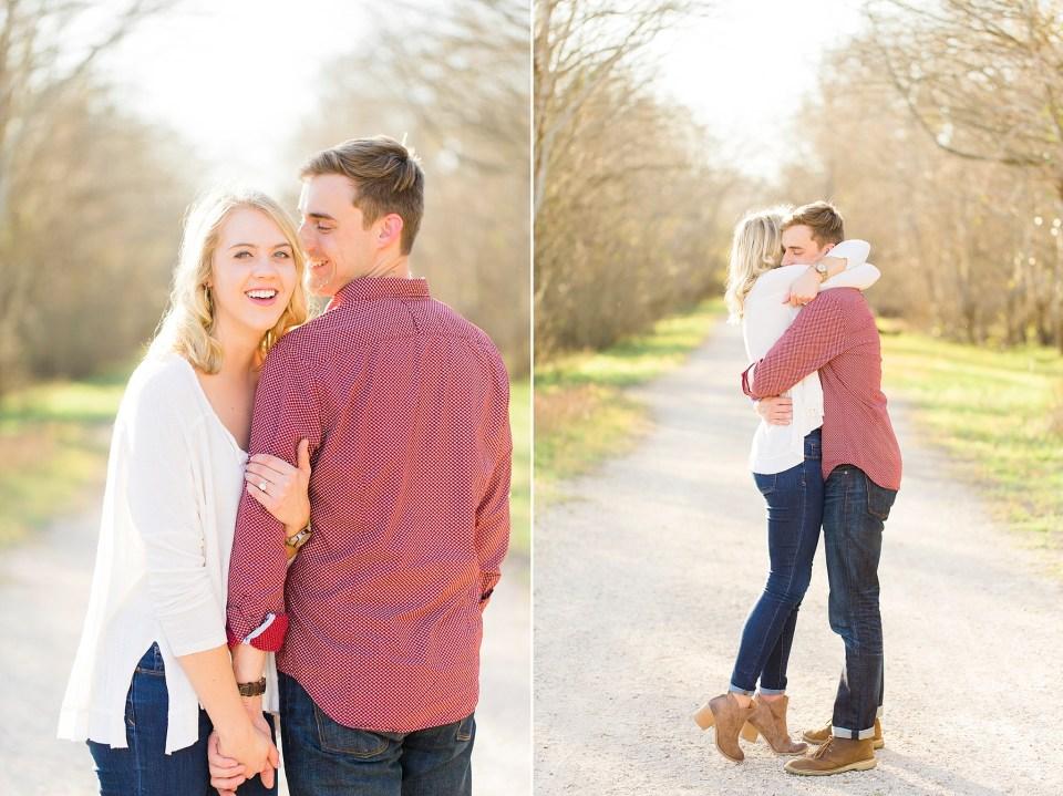 adorable couple embracing