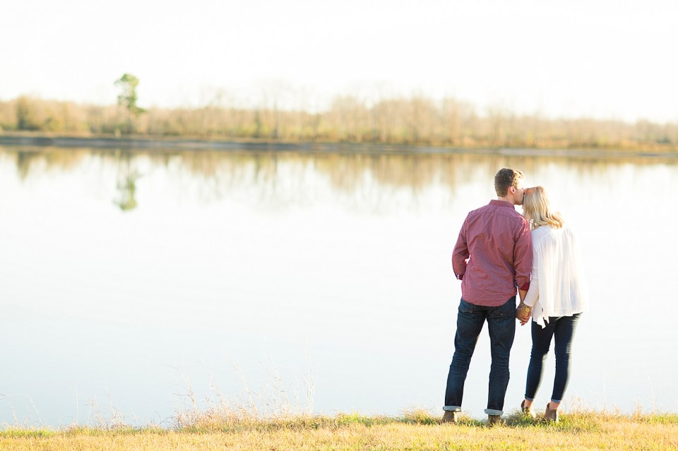 sweet couple by lake