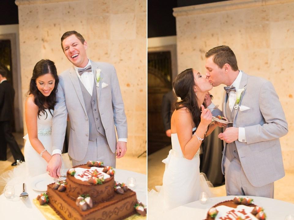 bride groom cutting groom's cake