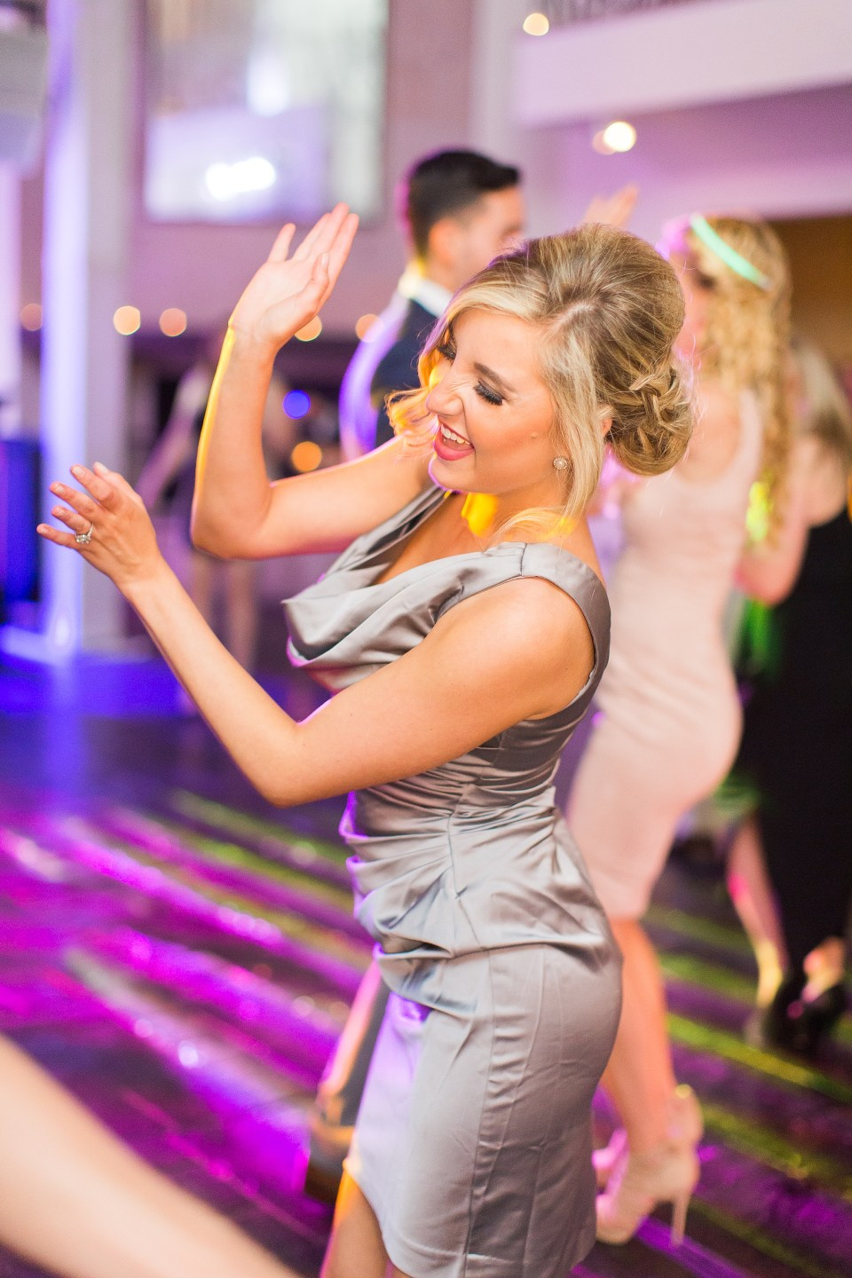 fun bridesmaid dancing