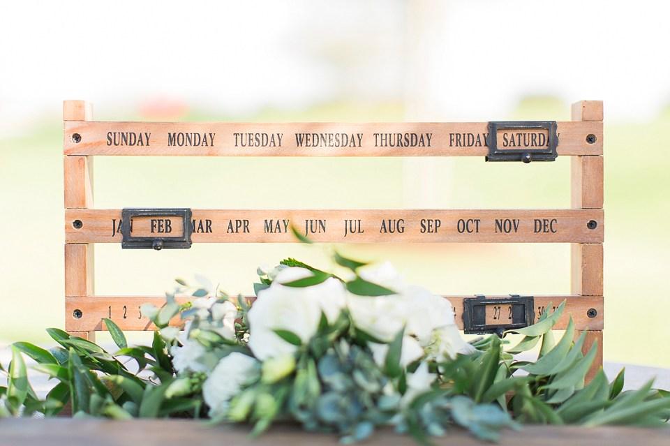 custom date sign wedding day