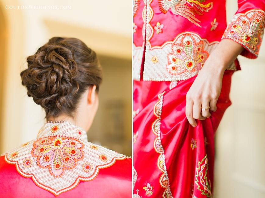 bridal updo traditional asian wedding dress