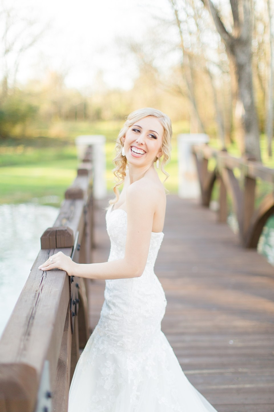 bride laughing bridal portrait